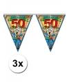 3x abraham 50 jaar vlaggenlijn 6 meter