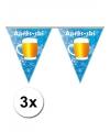 3x apres ski vlaggenlijn 5 meter