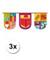 3x trendy sinterklaas vlaggenlijn