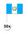 50 guatemalaanse zwaaivlaggetjes 12 x 24 cm