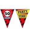 50 jaar vlaggenlijn waarschuwingsbord 10mtr