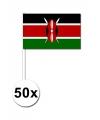 50 keniaanse zwaaivlaggetjes 12 x 24 cm