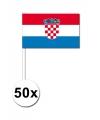 50 kroatische zwaaivlaggetjes 12 x 24 cm