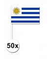 50 urugayaanse zwaaivlaggetjes 12 x 24 cm