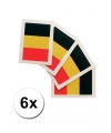6 belgische vlag tattoo stickers