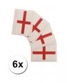 6 engelse vlag tattoo stickers