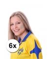 6 zweedse vlag tattoo stickers