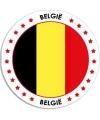 Belgie sticker rond 14 8 cm