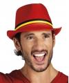 Belgie trilby hoedje rood