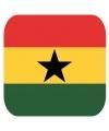 Bierviltjes ghanese vlag vierkant 15 st