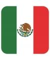 Bierviltjes mexicaanse vlag vierkant 15 st