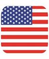 Bierviltjes verenigde staten vlag vierkant 15 st