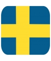 Bierviltjes zweedse vlag vierkant 15 st