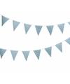 Blauwe vlaggenlijn met witte stippen 4 meter