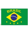 Brazilie vlag met tekst