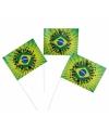 Brazilie zwaaivlaggetjes 50 stuks