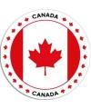 Canada sticker rond 14 8 cm