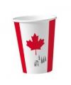 Canada wegwerp bekers 8 stuks