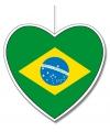 Decoratie hart brazilie 30 cm