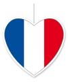 Decoratie hart frankrijk 30 cm