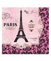 Frankrijk parijs thema servetten roze
