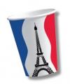 Frankrijk wegwerp bekers 10 stuks