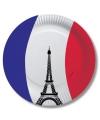 Frankrijk wegwerp bordjes 10 stuks