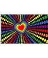 Hartjes regenboog vlag 90 x 150 cm