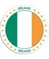 Ierland sticker rond 14 8 cm