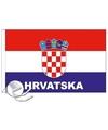 Kroatie vlag met tekst