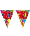 Leeftijd vlaggenlijn 70 jaar