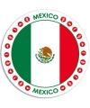 Mexico sticker rond 14 8 cm