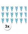 Oktoberfest 3 plastic beieren vlaggenlijnen 10 meter