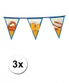 Oktoberfest 3x bierfeest vlaggenlijn 6 meter