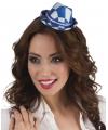 Oktoberfest tiara met beieren hoedje blauw