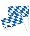 Oktoberfest zwaaivlaggen 10 stuks
