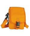 Oranje schoudertasje 18 cm