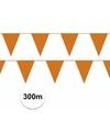 Oranje vlaggenlijnen pakket 300 meter