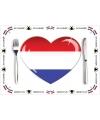 Papieren placemats holland 10 stuks