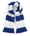 Sjaal met brede streep blauw wit