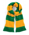Sjaal met brede streep groen geel