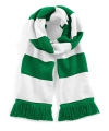 Sjaal met brede streep groen wit
