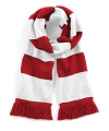 Sjaal met brede streep rood wit