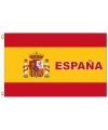 Spanje vlag met tekst