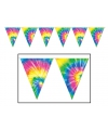 Tie dyed hippie vlaggenlijn 3 meter