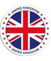 United kingdom sticker rond 14 8 cm