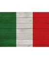 Vintage italiaanse vlag poster 84 x 59 cm