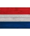 Vintage nederlandse vlag poster 84 x 59 cm