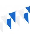 Vlaggenlijnen kobalt blauw en wit