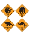Wanddecoratie australie road signs